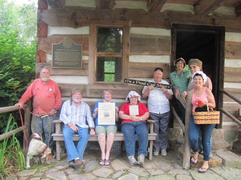 Heritage Festival 2014 Committee present from left to right: Carl and Snoopy, Jim, Patty, Alice, Ed Regina, Vito and Carol holding Henrietta bid you good tidings!  Come to the historical festival and be proud of our local history!